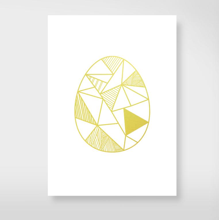 """Postkarte """"Goldenei"""" © Edith Schmuckes Papier"""