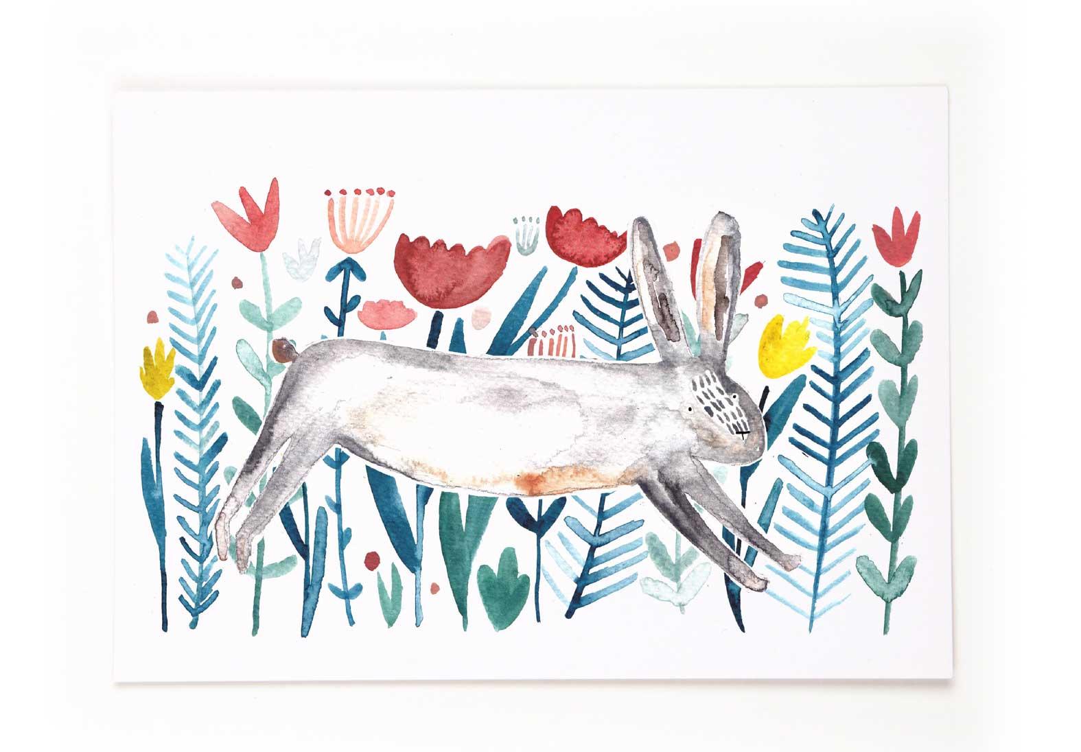 "Postkarte ""Osterhase"" © Gretas Schwester / Sarah Neuendorf"