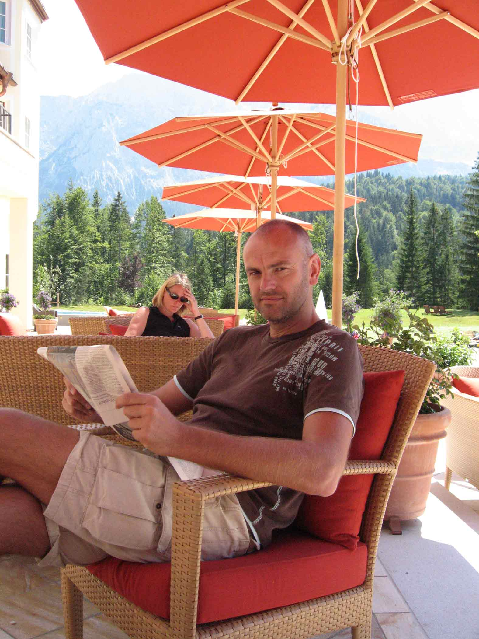 Reisejournalist Ralf Nestmeyer im Hotel Schloss Elmau © Ralf Nestmeyer