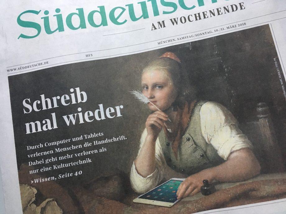 Über die Handschrift © Judith Schallenberg / SZ 10./11.3.18