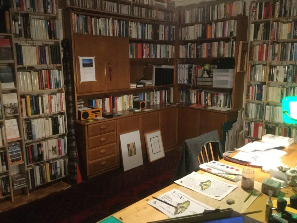 Die Bibliothek ist für Gallus Frei zugleich Lese- und Arbeitsort. Copyright: Gallus Frei