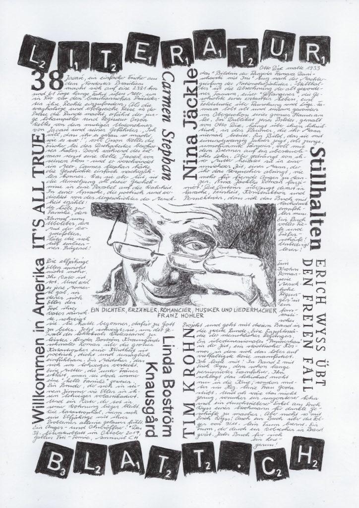 Das Literaturblatt Nr. 38 von Gallus Frei: lauter Perlen. Copyright: Gallus Frei