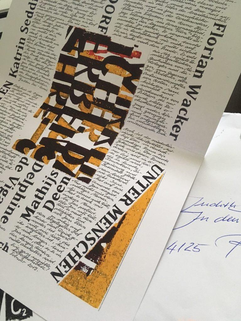Literarische Post von Gallus Frei. Copyright: Judith Schallenberg