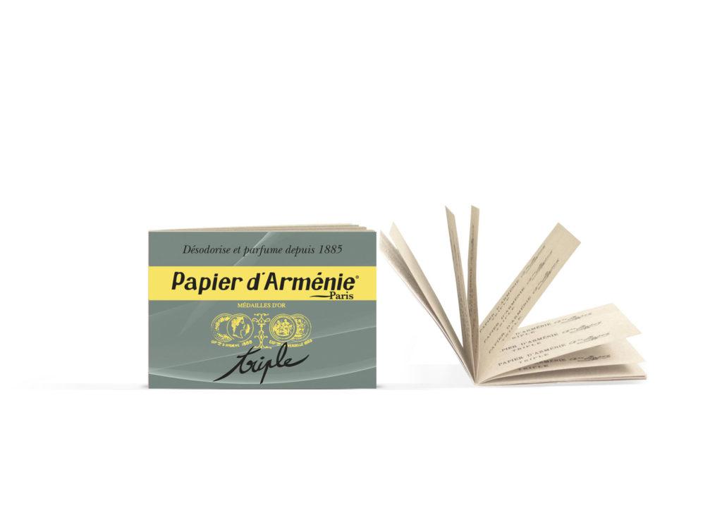 "So sieht ein kleines Büchlein des Duftpapiers ""Papier d'Armenie"" aus. Copyright: Papier d'Armenie, Paris"