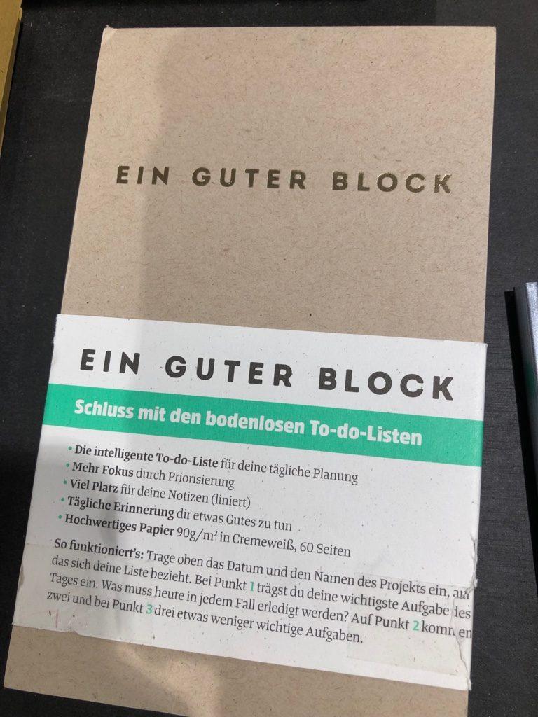 """""""Ein guter Block"""". Copyright: Judith Schallenberg"""