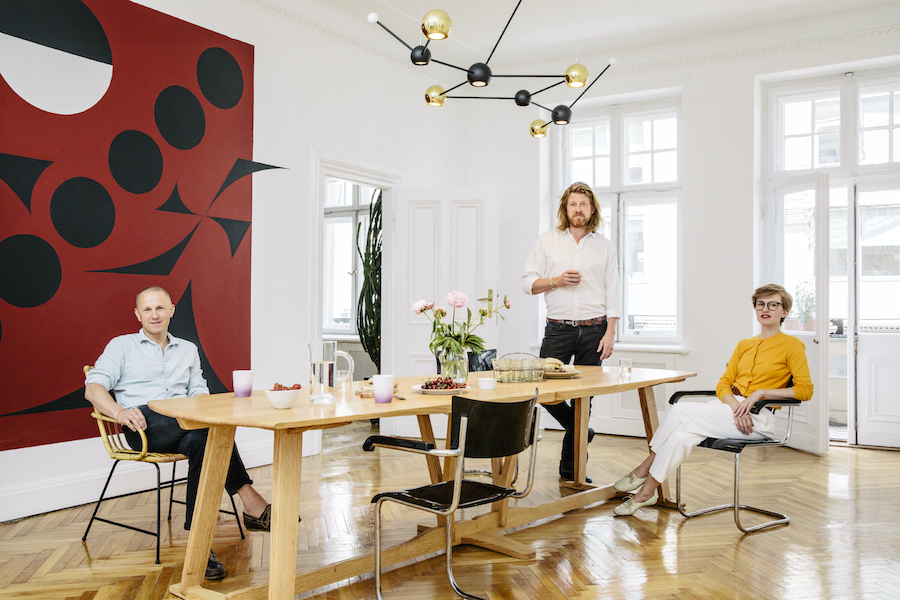 The founder in her hotel: Magdalena Ponagajbo and her design colleagues of Mamastudio.  Copyright: Krzysztof Krzysztofiak, Warsaw