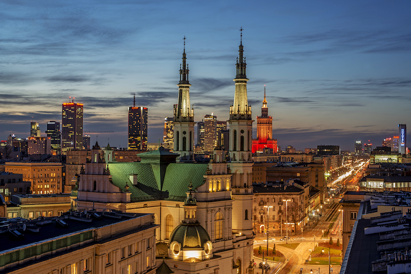 Panoramic view of the centre of Warsaw. Copyright: Tourist Portal of the Capital City of Warsaw