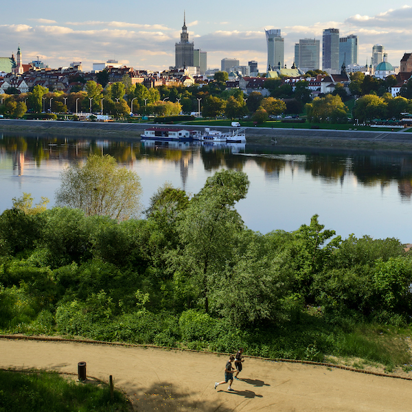 Warsaw and the Vistula river. Copyright: Tourist Portal of the Capital City of Warsaw