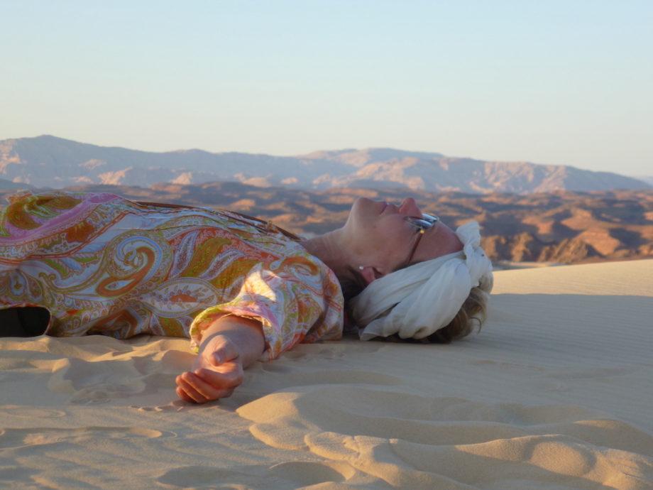 2019, Kerstin in der Wüste Sinai. Credits: Dr. Kerstin Gernig