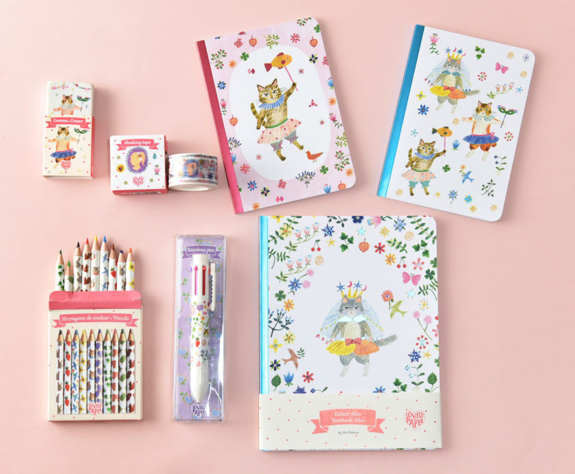 A cat life! Playful stationery products by Aiko Fukawa. Credits: Aiko Fukawa