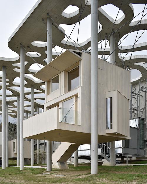 Nancys Unterkunft in der Schweiz. Design: Fuhrimann Haechler Architekten. Credits: Fondation Jan Michalski, Montricher