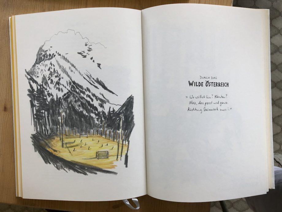 """""""A bisserl weiter - Mit dem Skizzenbuch durch Österreich"""" Credits: Sebastian Lörscher"""