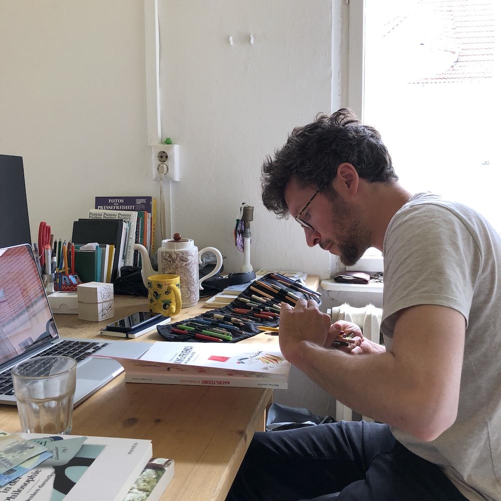 Im Atelier. Credits: Sebastian Lörscher